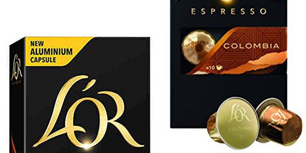 4 cajas de 10 cápsulas café L'OR Espresso Colombia baratas