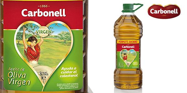 Aceite de oliva virgen Carbonell de 3 litros barato en Amazon