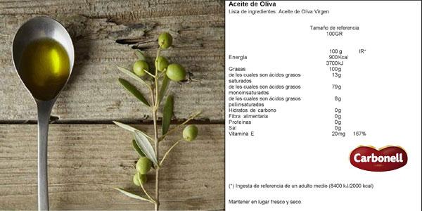 Aceite de oliva virgen Carbonell de 3 litros chollo en Amazon