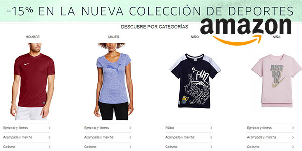 Amazon promoción en la nueva colección de ropa de deporte con grandes descuentos