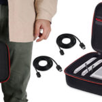 Bolsa de transporte AGPTEK para SNES Mini y mandos con 2 cables extensores de 3 metros barata