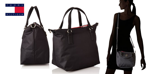 Bolso Tommy Hilfiger Poppy Small en color negro chollo en Amazon