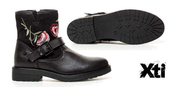 Botas Xti Debbie en color negro bordadas para mujer chollo en eBay