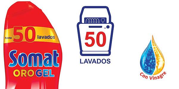 bote lavavajillas Somat Oro Vinagre en gel para 50 lavados en oferta