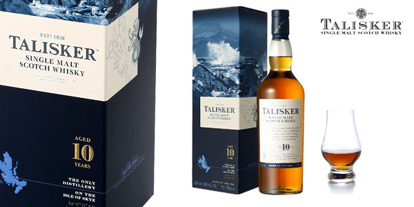 Talisker Single Malt Whisky Escocés botella de 700 ml barato en Amazon