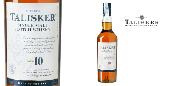 Talisker Single Malt Whisky Escocés botella de 700 ml chollo en Amazon