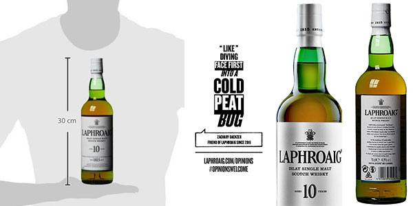 Botella de whisky Laphroaig Islay Single Malt de 10 años (70 cl)