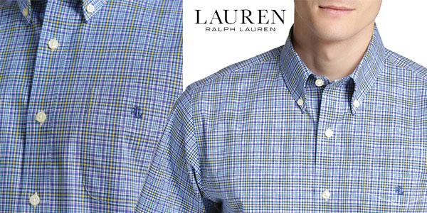 Camisa LAUREN RALPH LAUREN de cuadros en color azul para hombre chollo en Primeriti