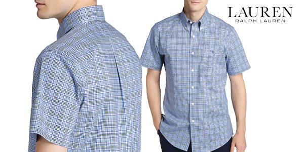 c9b794966a145 Camisa LAUREN RALPH LAUREN de cuadros en color azul para hombre barata en  Primeriti