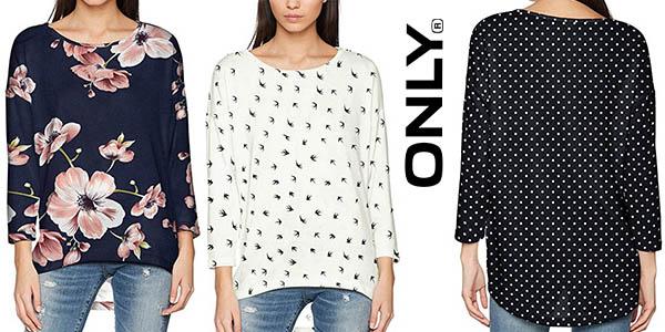 camisa Only con estampado y manga larga para mujer barata