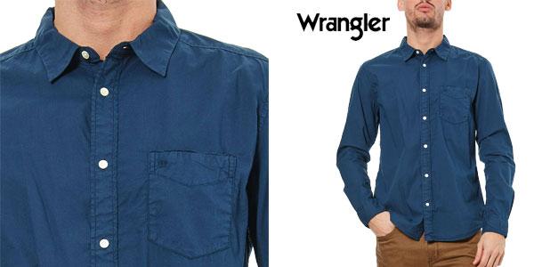 Camisa Wrangler en color azul chollo en eBay España