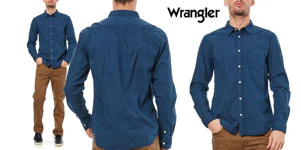 Camisa Wrangler en color azul barata en eBay España