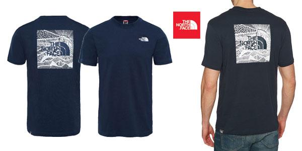 Camiseta The North Face M Ss Redbox Cel en color azul navy para hombre chollazo en Amazon