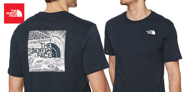 Camiseta The North Face M Ss Redbox Cel en color azul navy para hombre barata en Amazon