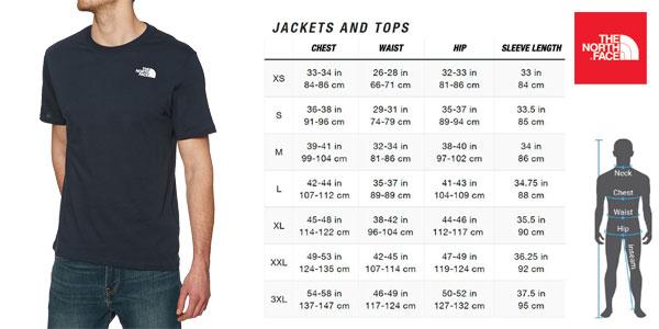 Camiseta The North Face M Ss Redbox Cel en color azul navy para hombre chollo en Amazon