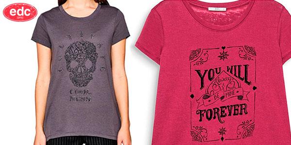 Camiseta edc by Esprit para mujer en oferta