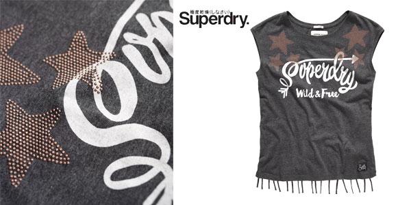 Camiseta Savanna Fringe Charcoal en color gris para mujer chollo en eBay
