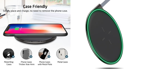 Cargador inalámbrico Qi rápido ESR Wireless Charger Qi barato en Amazon