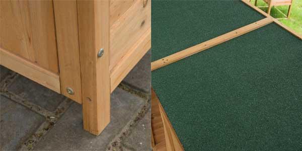 Chollo cobertizo de jard n homcom de aosom en madera for Tejado madera maciza