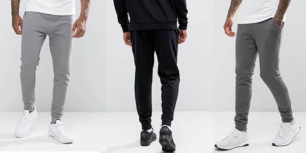 b7467e6d4 Chollo Pantalones de chándal jogging Asos slim-fit para hombre por ...