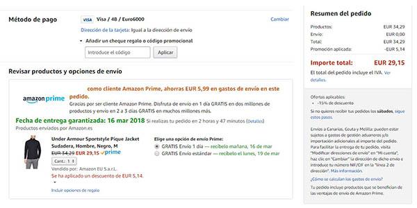Chaqueta Under Armour Sportstyle Pique descuento Amazon