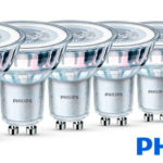 Chollo Pack de 6 bombillas LED Philips GU10 de 4,6 W y 355 lúmenes