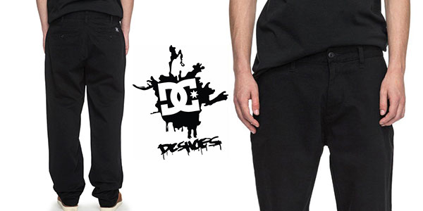 Chollo Pantalones chinos DC Shoes Worker Relaxed de color negro para hombre