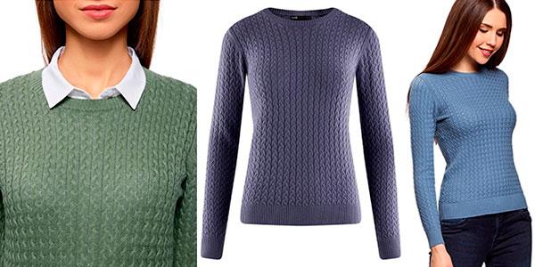 Chollo suéter fino de punto en varios colores para mujer