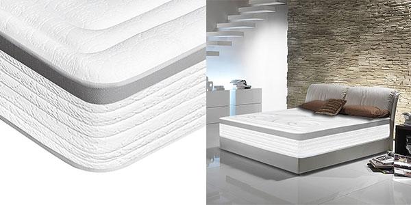 Colchón viscoelástico Dagostino Home Marbella de 160 x 190 x 22 cm y fibra hueca en oferta