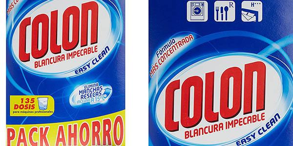 Colon detergente para ropa blancura total en caja de 135 lavados oferta