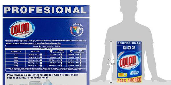 Colon en polvo detergente para ropa en formato ahorro chollo