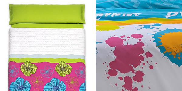 conjunto funda nórdica con sábana bajera y almohadas a precio brutal
