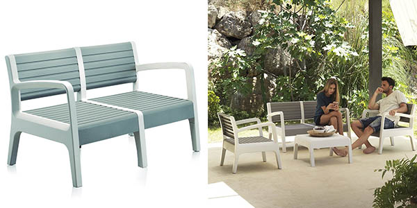Chollo conjunto de muebles de jard n shaf miami en resina for Muebles jardin baratos