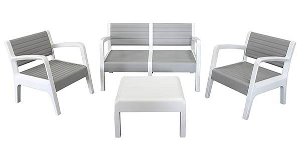 Chollo conjunto de muebles de jard n shaf miami en resina por s lo 139 con env o gratis - Conjunto muebles salon ...