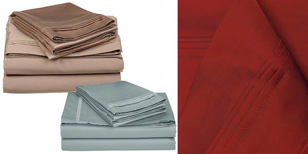 conjunto de sábanas para cama doble superior de gran calidad en oferta