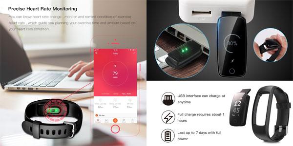 Pulsera inteligente DBFIT oferta en Amazon España