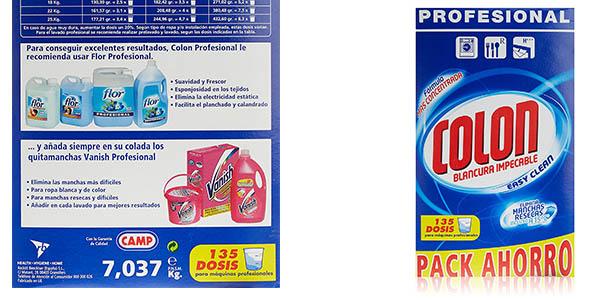 detergente Colon en polvo 135 lavados barato