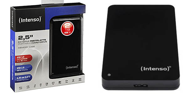 Disco duro portátil Intenso Memory Case de 2TB