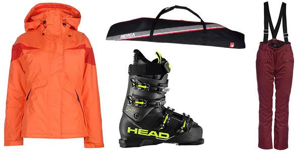 equipación de esquí con primeras marcas a precio brutal en Sports Direct