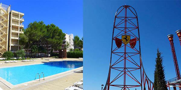 escapada con alojamiento y entradas a Port Aventura y Ferrari Land chollo