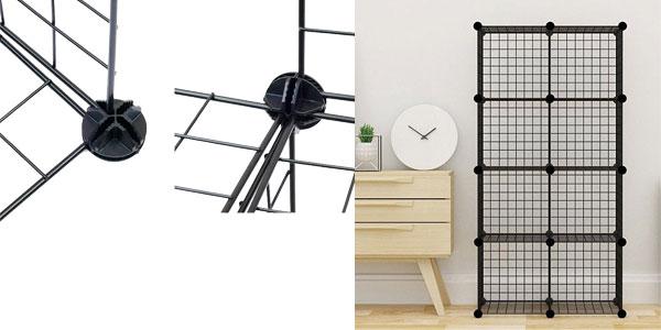 Estantería Modular Metálica Multifuncional en color negro chollazo en eBay