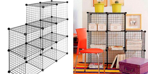 Estantería Modular Metálica Multifuncional en color negro barata en eBay