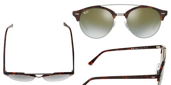 gafas de sol Ray-Ban Shiny Red Havana con lentes no polarizadas y efecto degradado en oferta