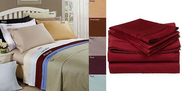 juego de sábanas Superior en algodón de gran calidad barato