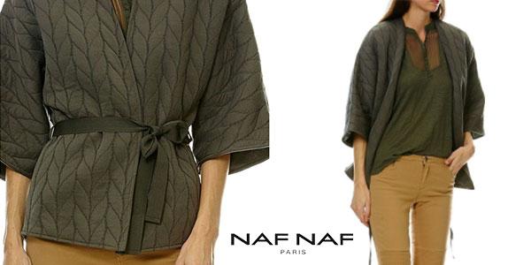 Kimono Naf Naf Veste de color caqui para mujer en oferta