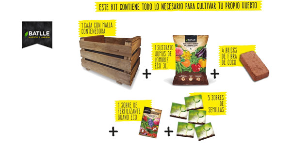 Kit Huerto Vintage de Semillas Batlle para cultivo huerto urbano chollo en Amazon