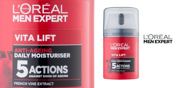 Kit Crema hidratante L'Oréal Men Expert Vita Lift con neceser chollo en Amazon
