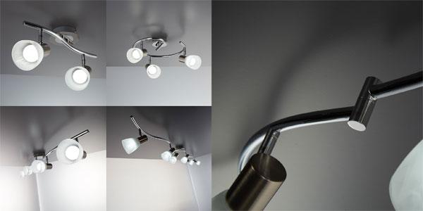 Lámpara de techo LED B.K. Licht con 7 focos orientables y bombillas incluidas chollo en Amazon