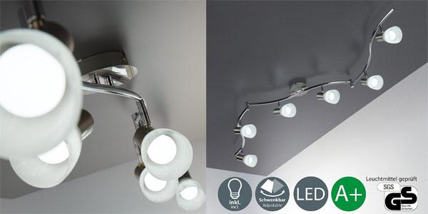 Ordinaire Lámpara De Techo LED B.K. Licht Con 7 Focos Orientables Y Bombillas  Incluidas Barata En Amazon