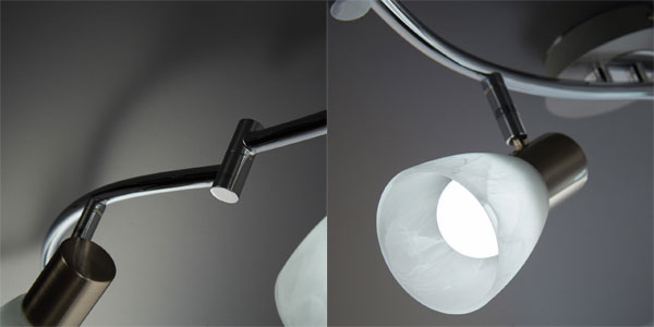 Lámpara de techo LED B.K. Licht con 7 focos orientables y bombillas incluidas chollazo en Amazon